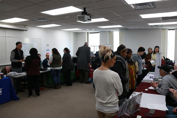 adult education seasonal job fair photo