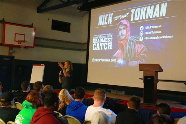 Sunshine from Deadliest Catch speaks to T-S-T students